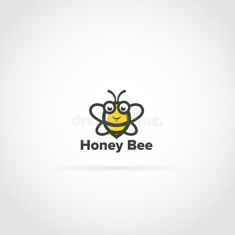 Logotipo da abelha ilustração do vetor