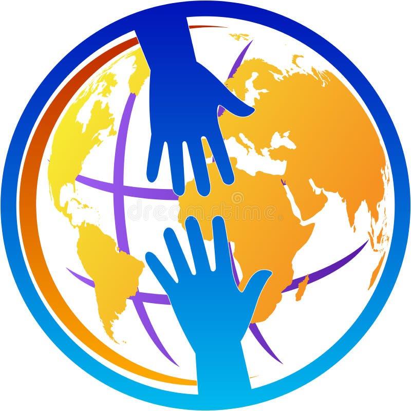 Logotipo da ajuda ilustração royalty free