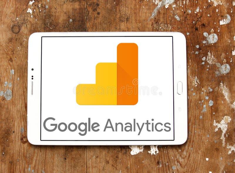 Logotipo da analítica de Google fotografia de stock royalty free