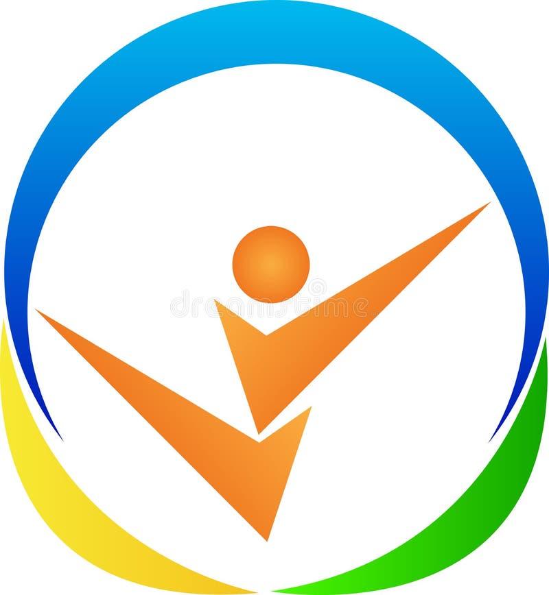 Logotipo da aptidão ilustração royalty free