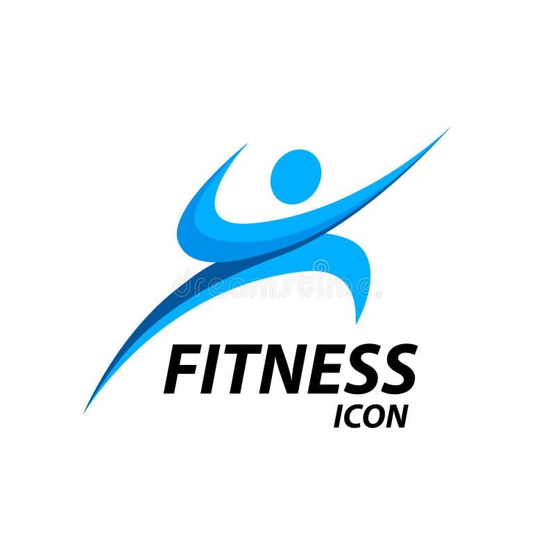 Logotipo da aptidão com ícone saudável abstrato do bem-estar do corpo Ilustração do vetor ilustração stock