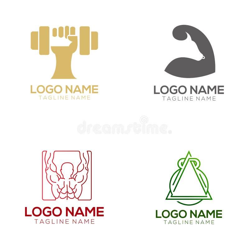 Logotipo da aptidão e projeto do ícone ilustração royalty free