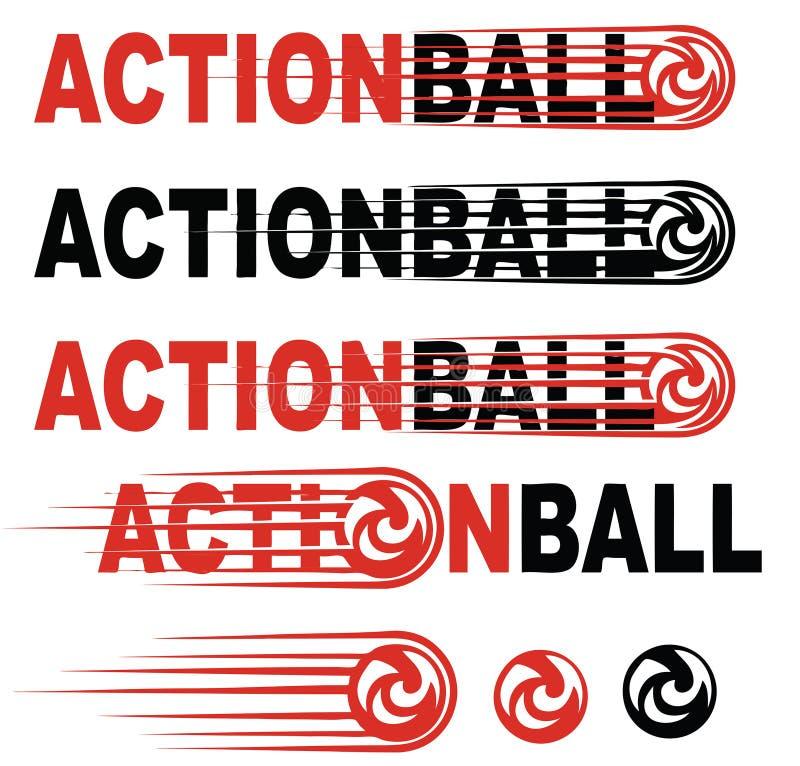Logotipo da arte da bola da ação foto de stock royalty free