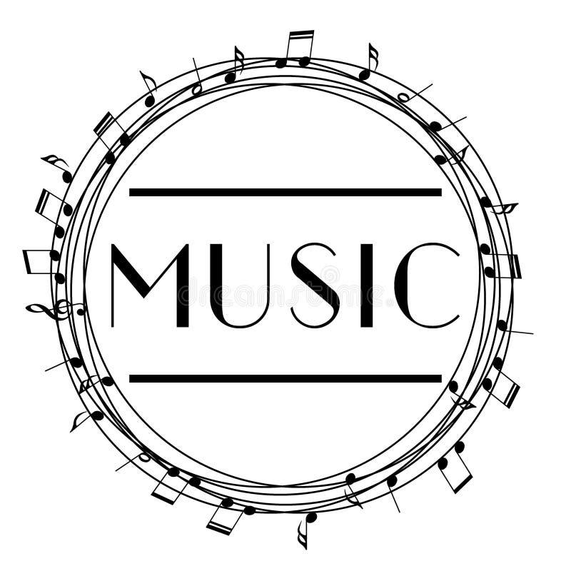 Logotipo da arte da música Música gráfica do estilo da rua Cópia à moda da forma Fato do molde, cartão, etiqueta, cartaz emblema, ilustração do vetor