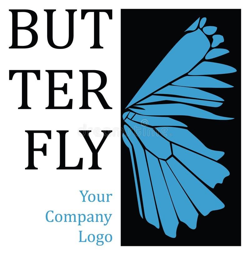 Logotipo da asa da borboleta ilustração stock