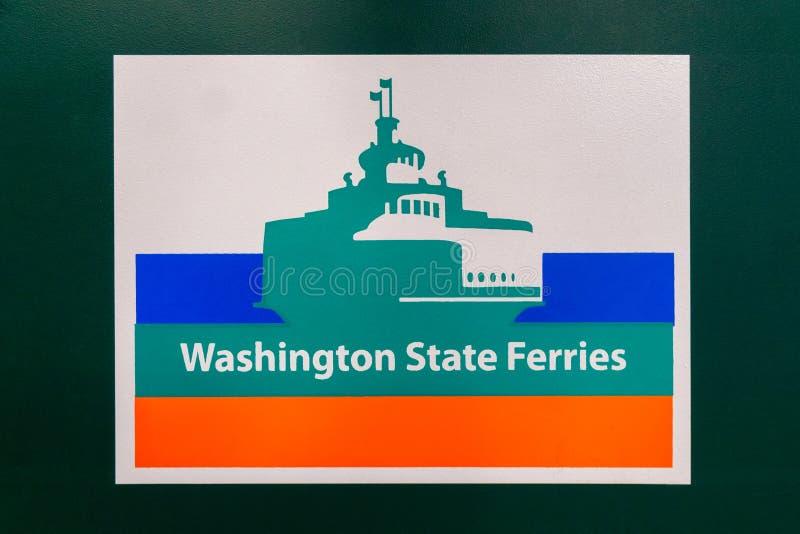 Logotipo da balsa do estado de Washington fotos de stock