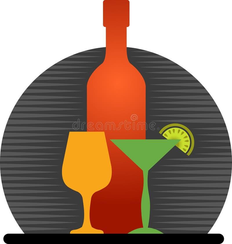 Logotipo da barra ilustração do vetor