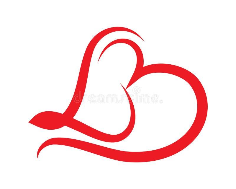 Logotipo da beleza do amor da libra do monograma ilustração stock
