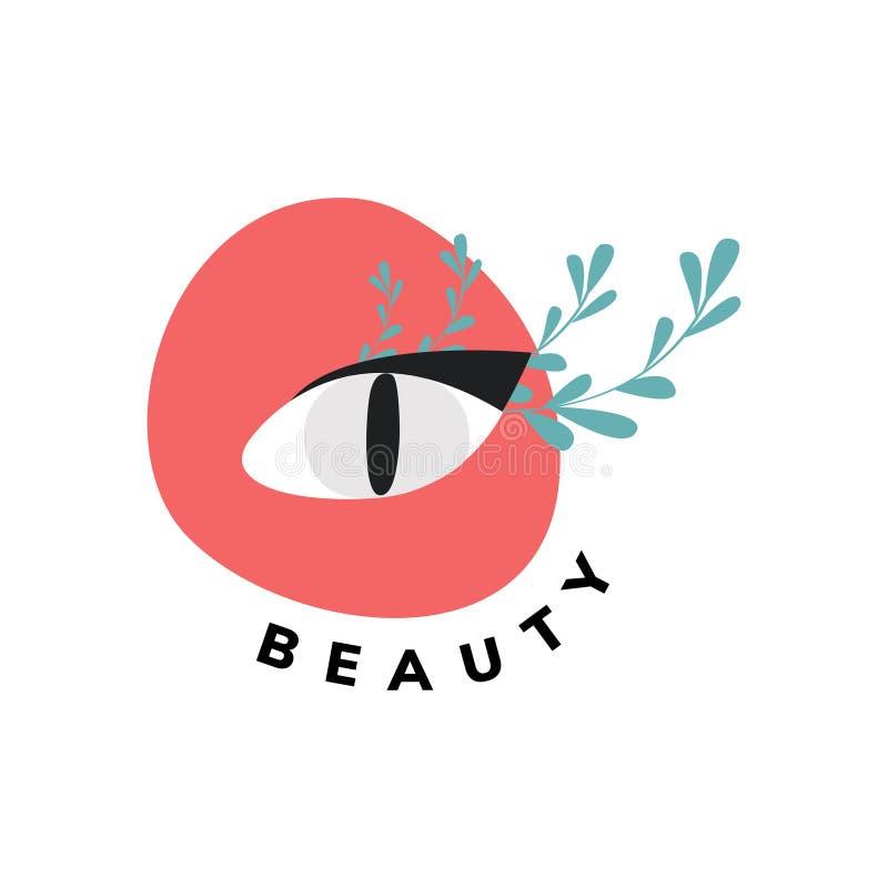 Logotipo da beleza orgânica natural ilustração do vetor