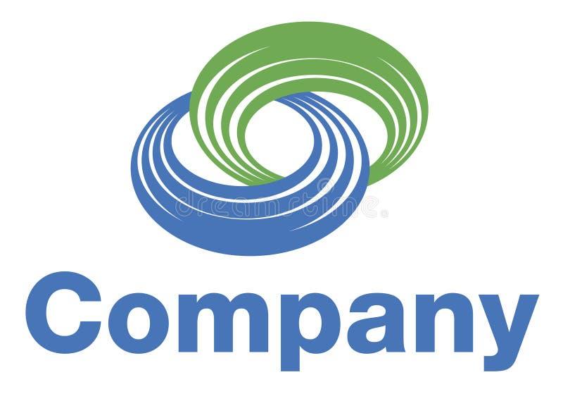Logotipo da bobina ilustração stock