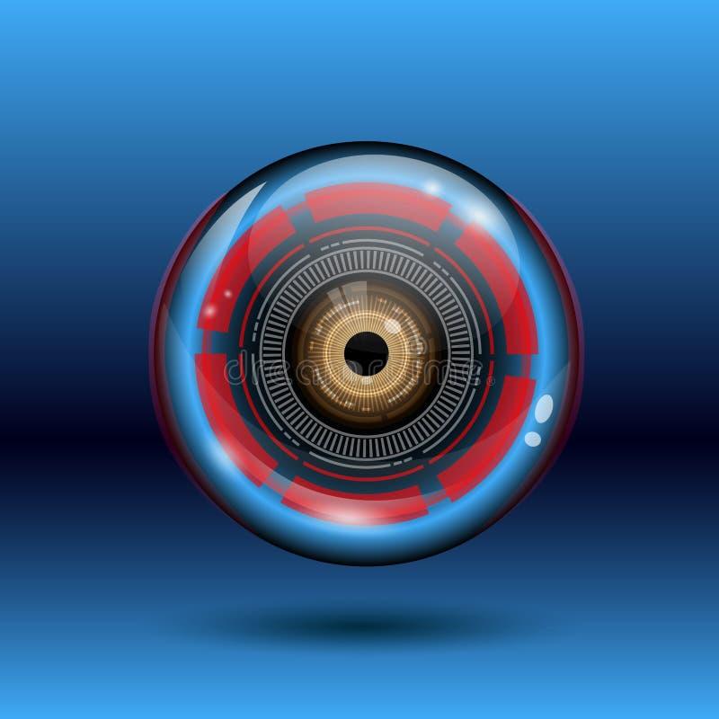 Logotipo da bola do olho do Cyber ilustração royalty free