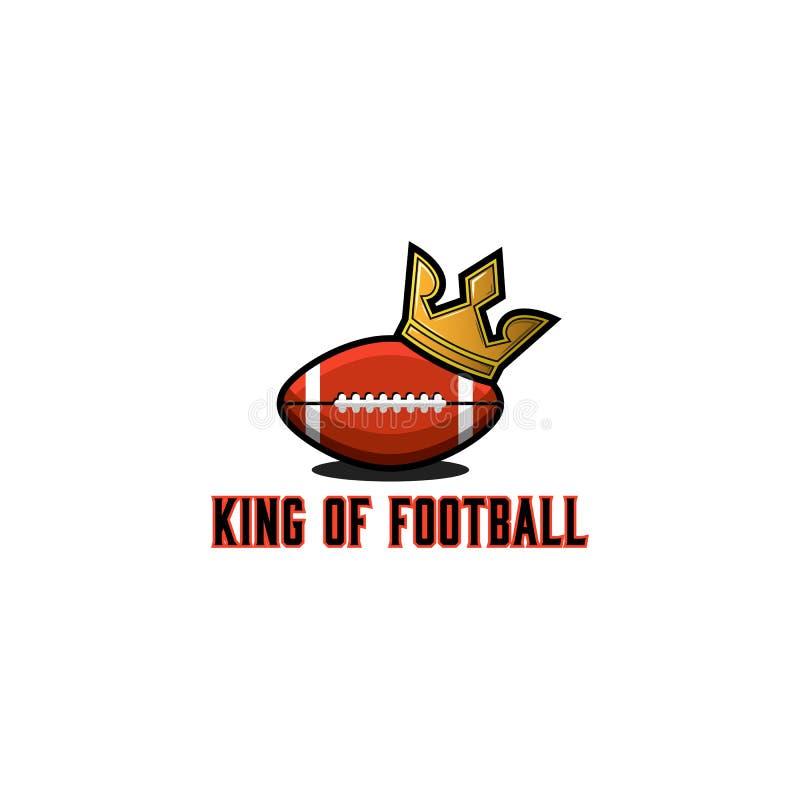 Logotipo da bola do rugby ou do futebol americano, molde do emblema do competiam dos esportes, etiqueta colorida da ilustração do ilustração stock