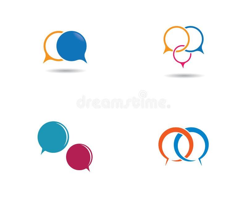Logotipo da bolha do discurso ilustração stock