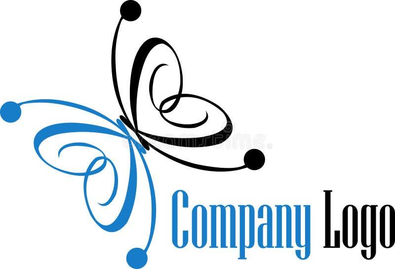 Logotipo da borboleta ilustração do vetor