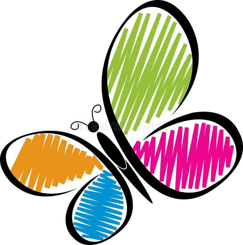 Logotipo da borboleta ilustração royalty free