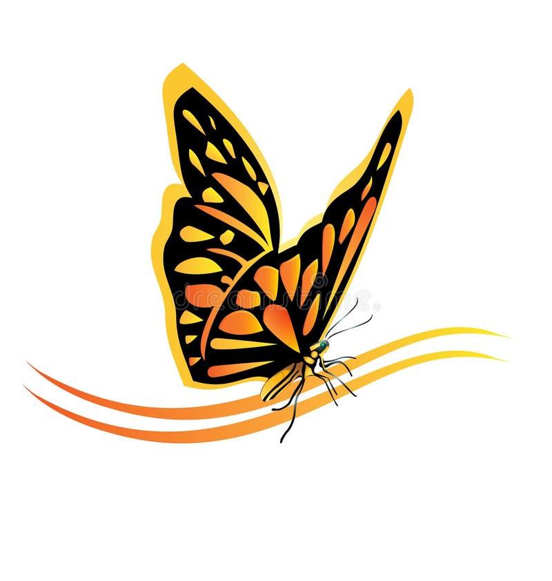 Logotipo da borboleta de monarca ilustração do vetor