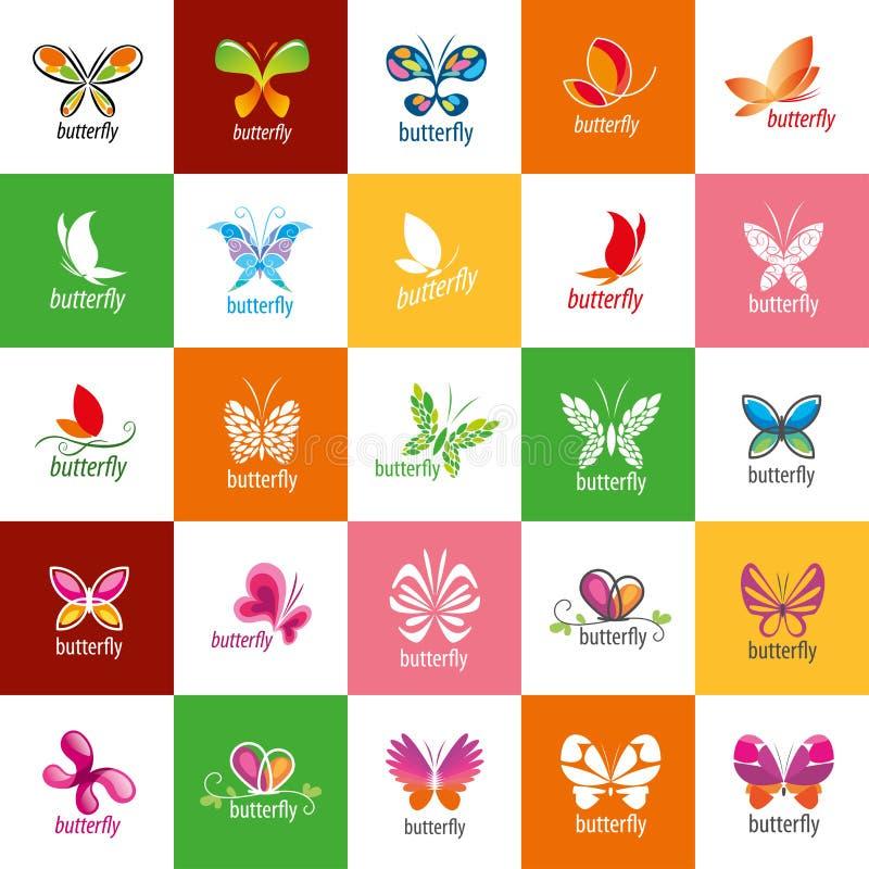 Logotipo da borboleta do vetor ilustração stock