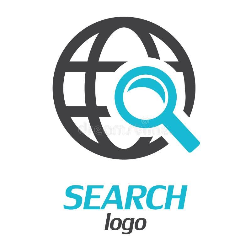 Logotipo da busca Globo com lupa Ilustração do vetor ilustração stock