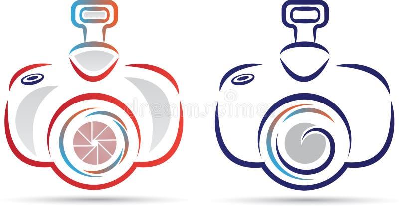 Logotipo da câmera ilustração do vetor