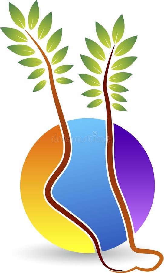 Logotipo da cópia do pé ilustração stock