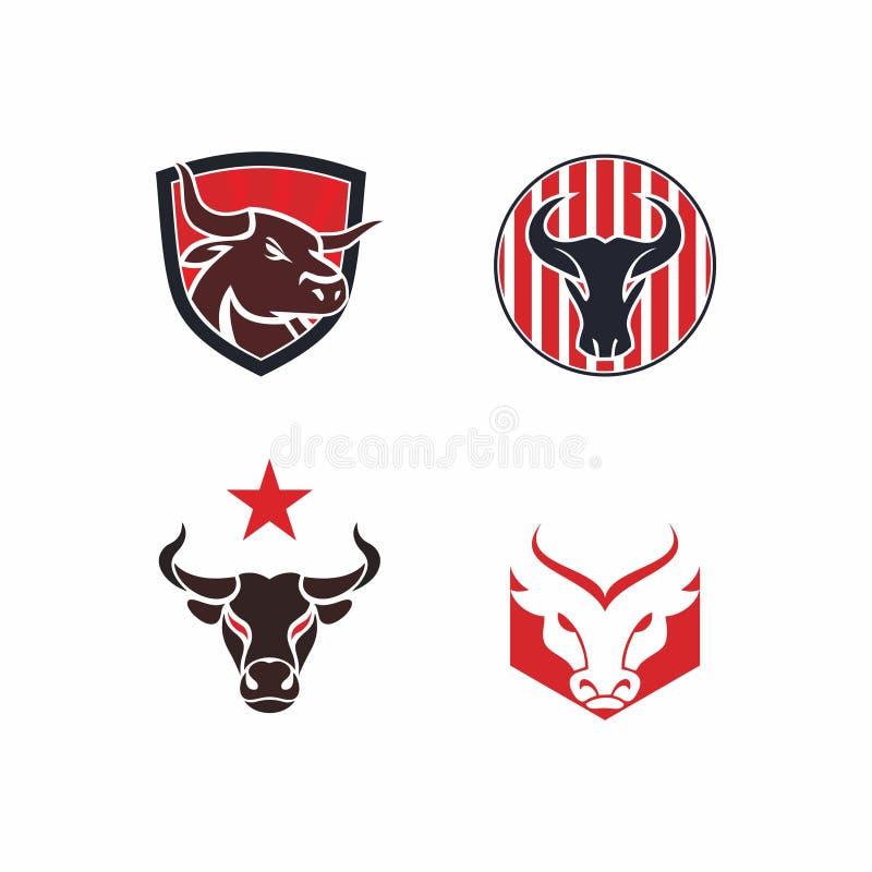 Logotipo da cabeça do ` s do touro foto de stock royalty free