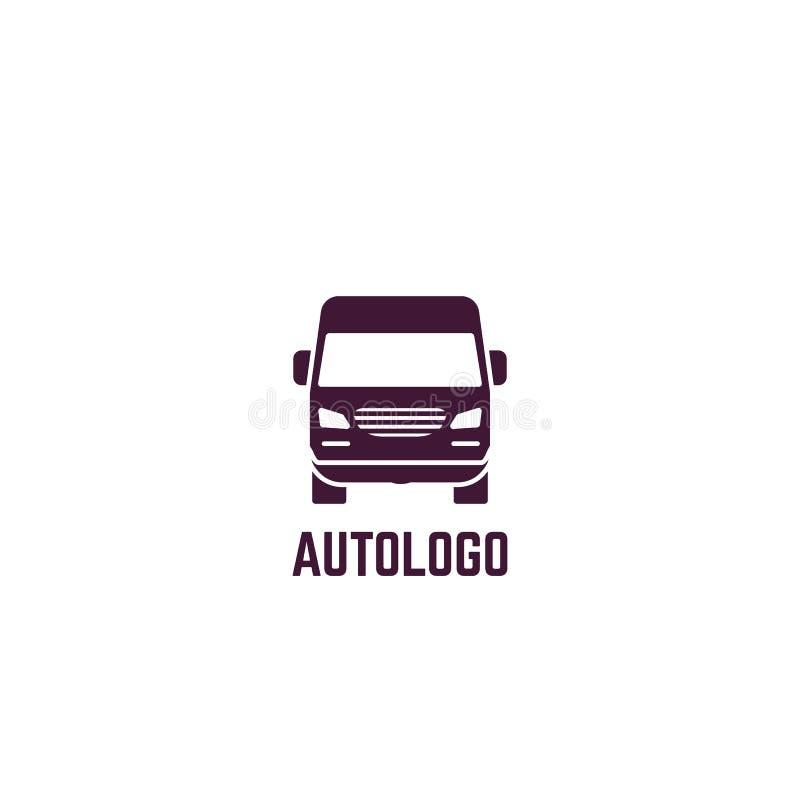 Logotipo da camionete de entrega ilustração stock