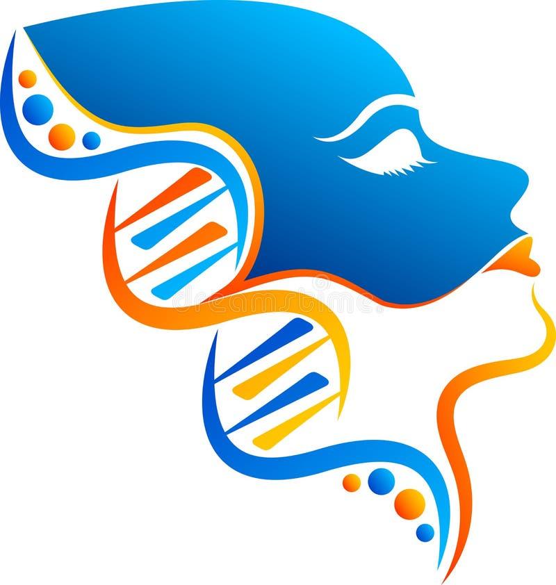 Logotipo da cara do ADN ilustração royalty free