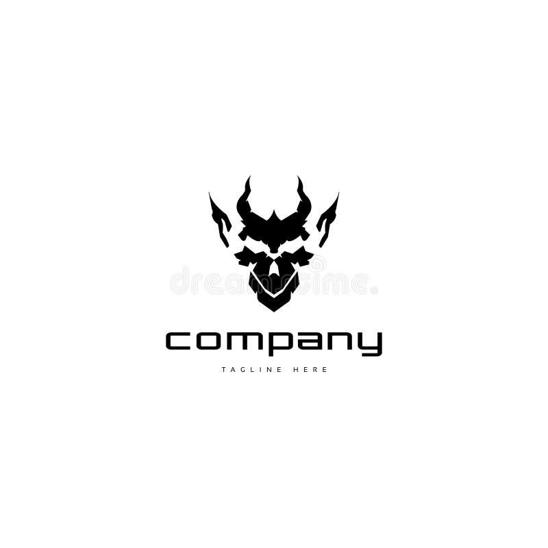 Logotipo da cara do diabo ilustração do vetor