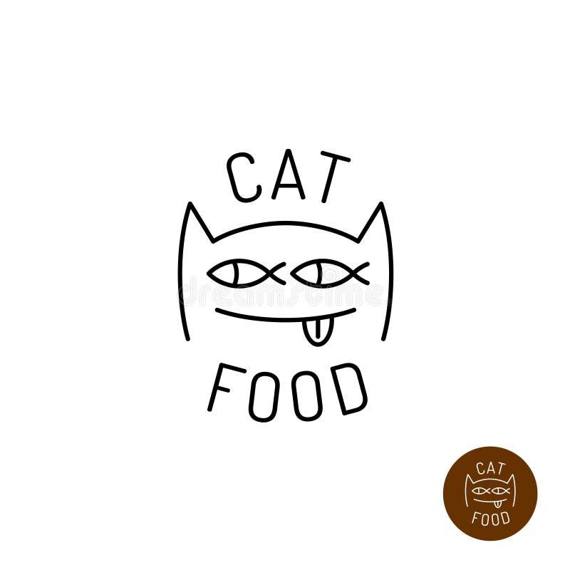 Logotipo da cara do gato ilustração royalty free