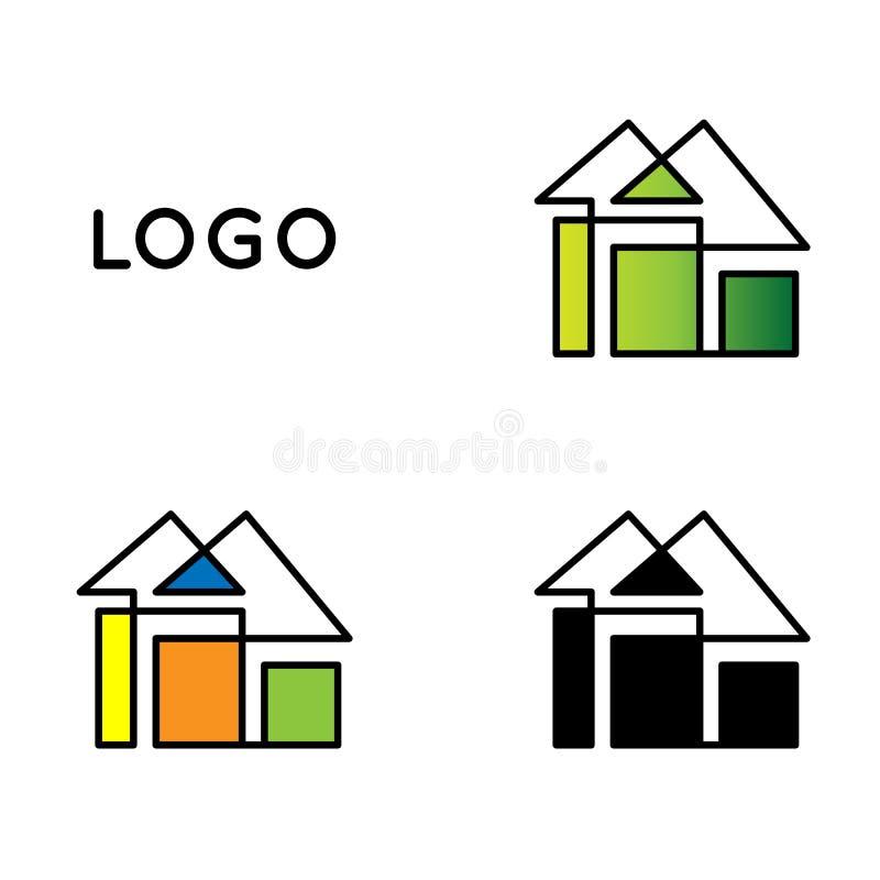 Logotipo da casa ilustração do vetor