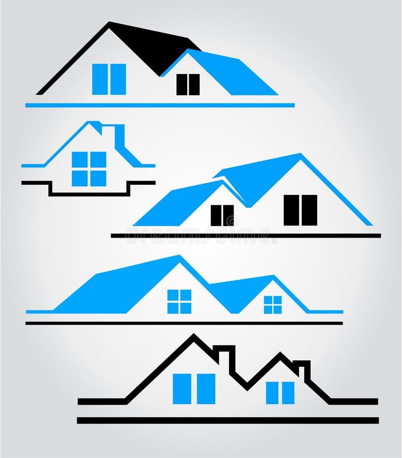 Logotipo da casa fotografia de stock royalty free