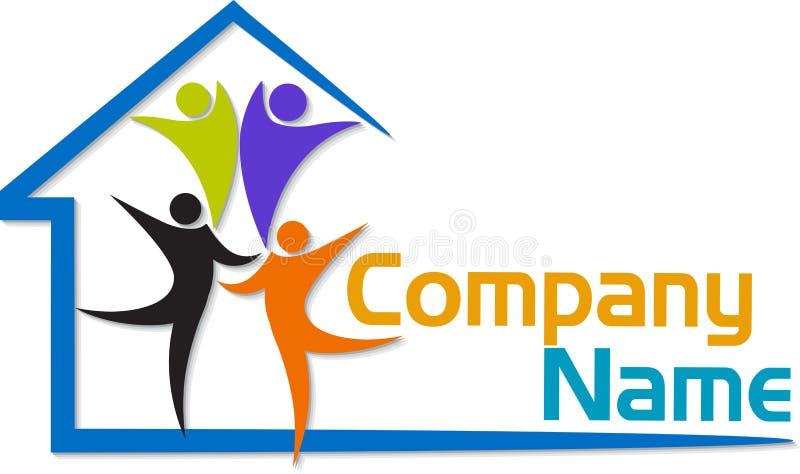 Logotipo da casa da família ilustração royalty free