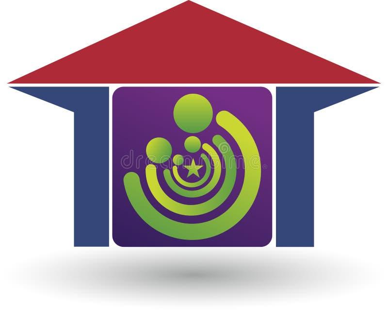 Logotipo da casa da família ilustração stock