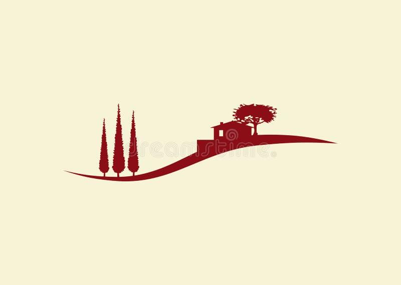 Logotipo da casa de campo do feriado ilustração do vetor