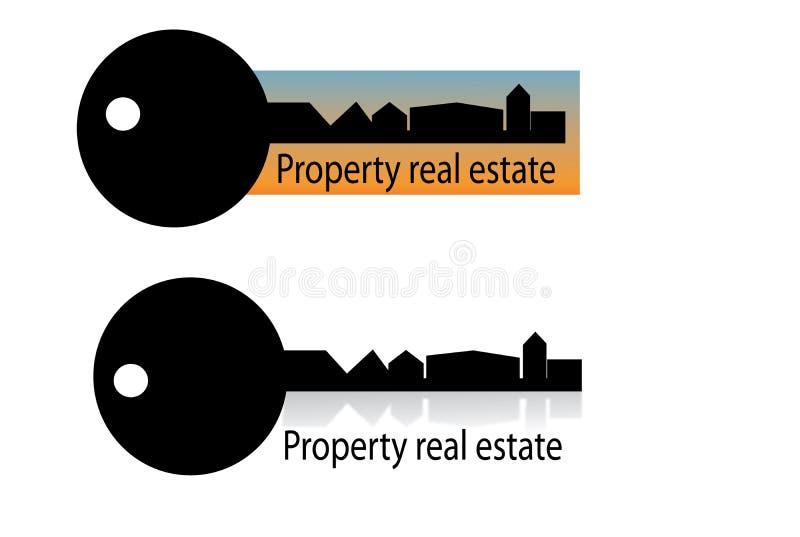 Logotipo da casa dos bens imobiliários ilustração stock