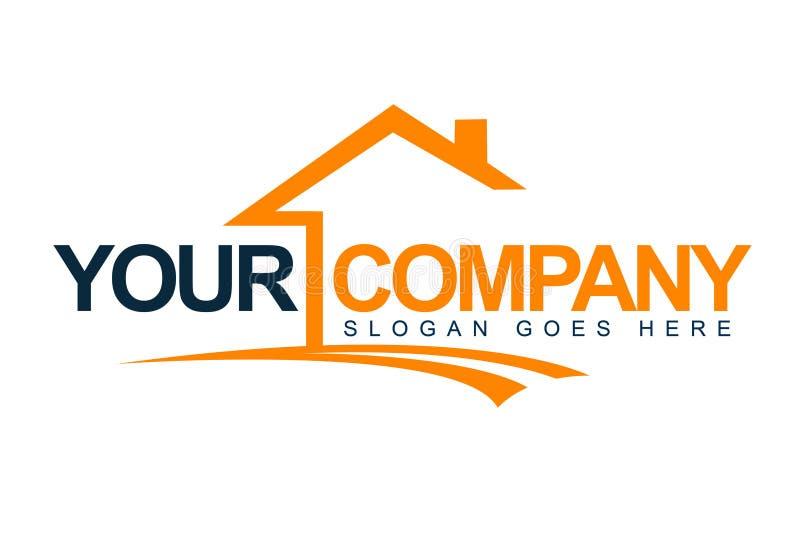 Logotipo da casa dos bens imobiliários ilustração royalty free