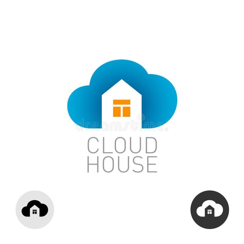 Logotipo da casa da nuvem ilustração do vetor