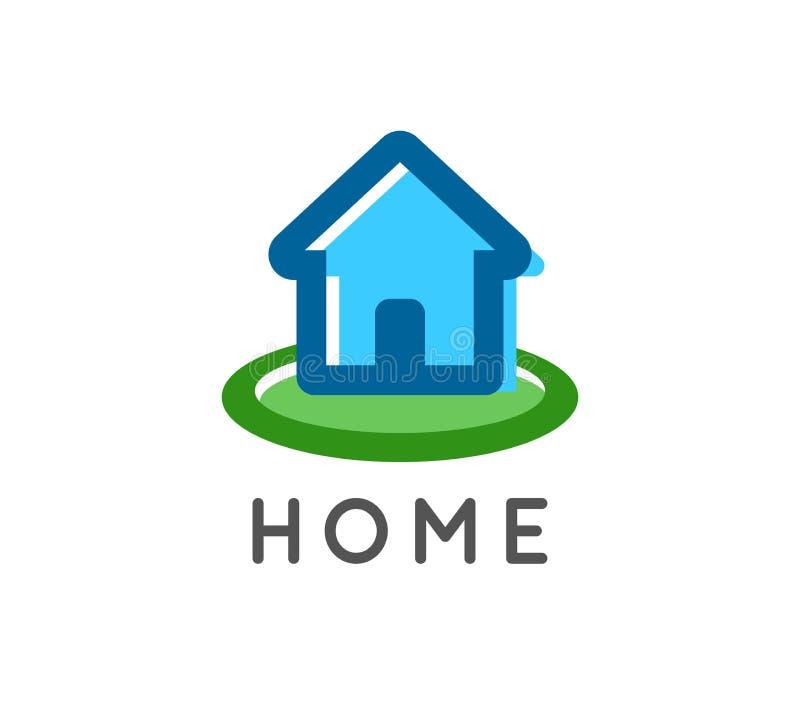 Logotipo da casa para uma empresa do reparo dos bens imobiliários e da casa - emblema bonito do vetor que mostra o cosiness e a a ilustração do vetor