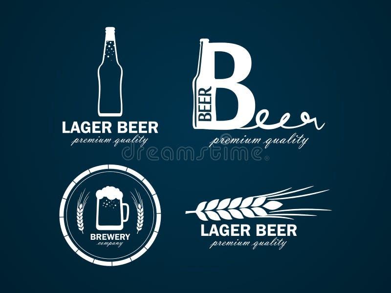 Logotipo da cerveja ilustração do vetor