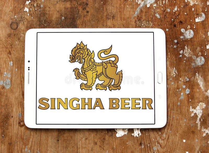Logotipo da cerveja de Singha foto de stock