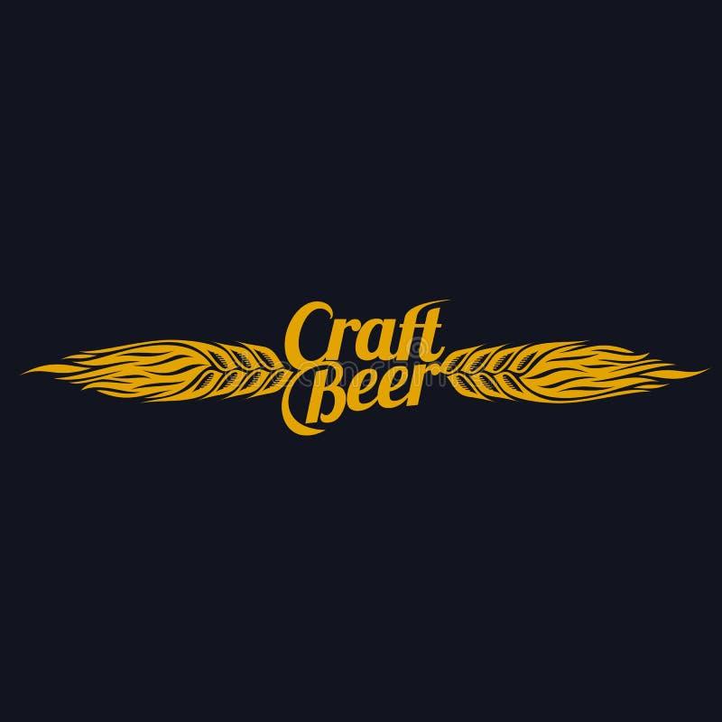 Logotipo da cerveja do ofício ilustração do vetor