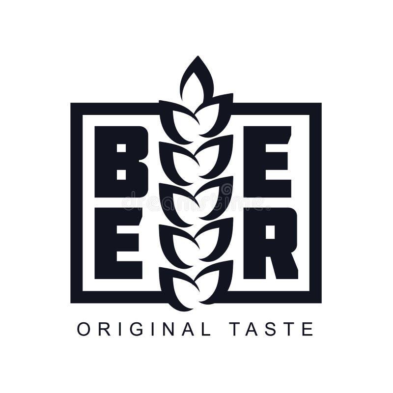 Logotipo da cerveja do ofício ilustração stock