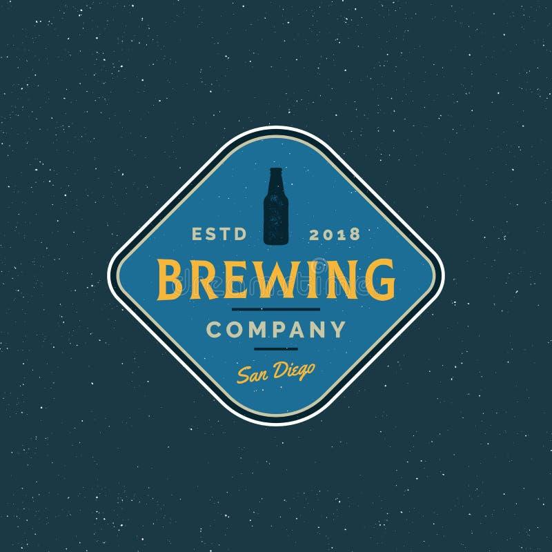 Logotipo da cervejaria do vintage emblema denominado retro da cerveja Ilustração do vetor ilustração royalty free