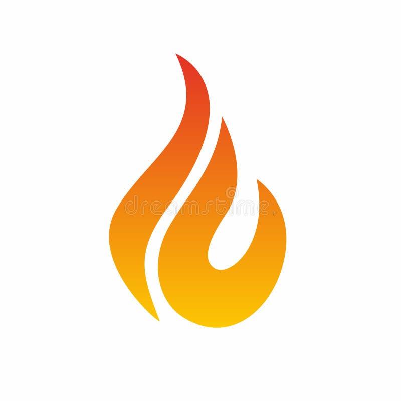 Logotipo da chama, ícone do fogo Molde do projeto do logotipo da chama do fogo ilustração stock