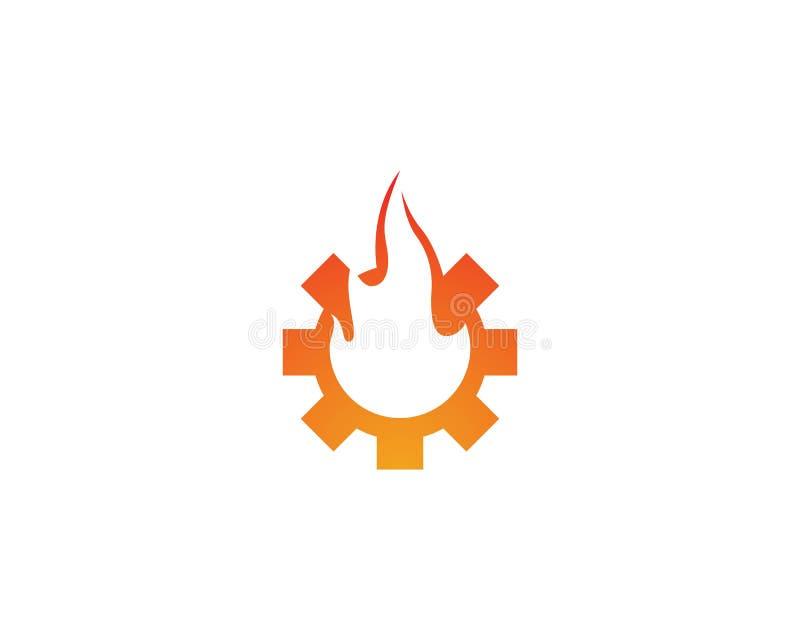 Logotipo da chama do fogo ilustração stock