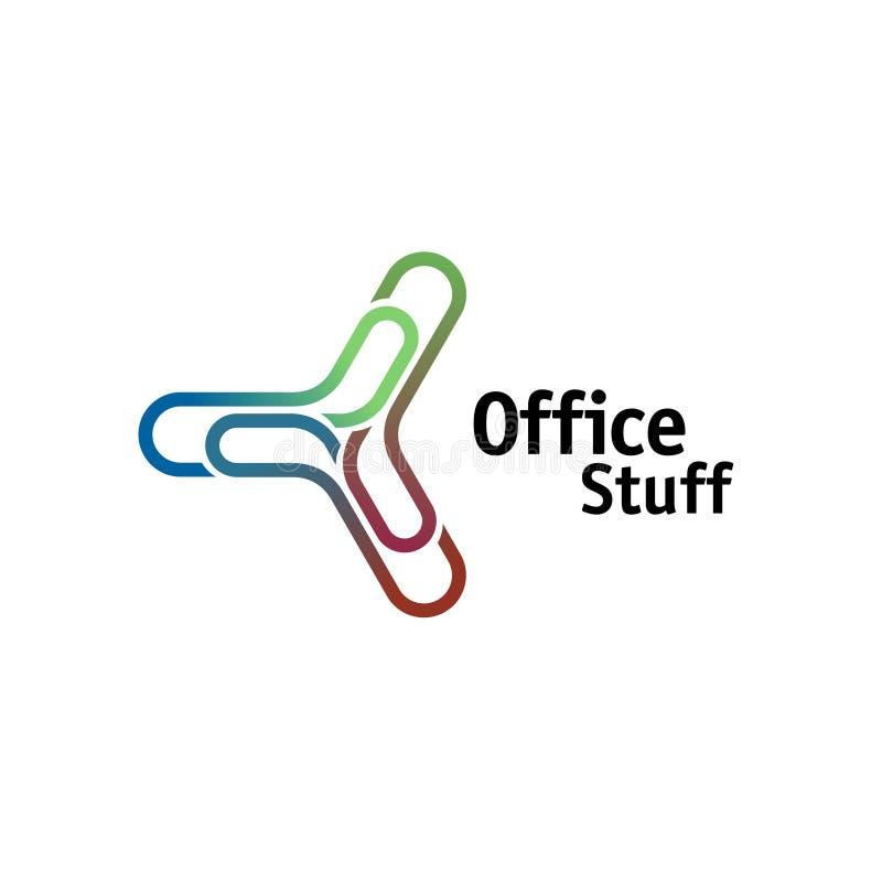 Logotipo da chancelaria do escritório ilustração stock