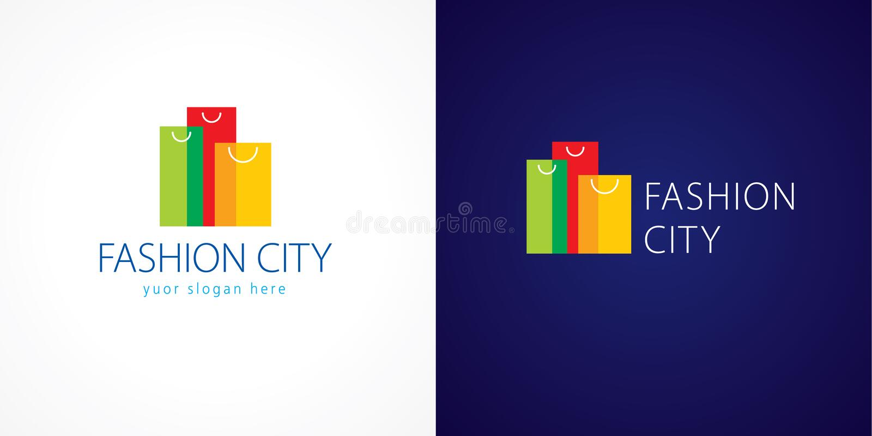 Logotipo da cidade da forma ilustração royalty free