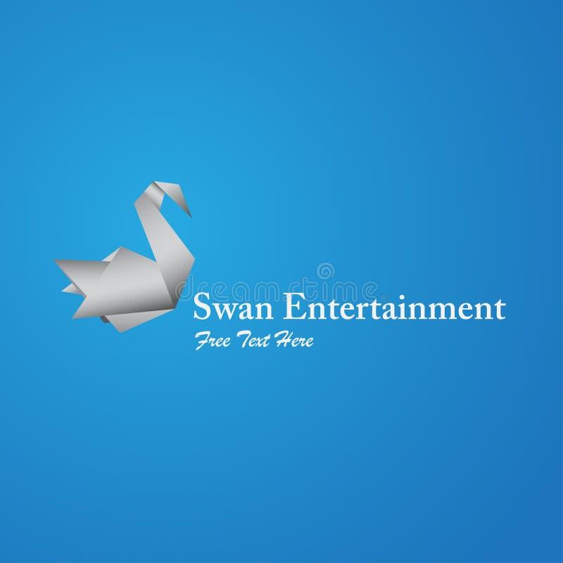 Logotipo da cisne com texto livre para edit?vel ilustração stock