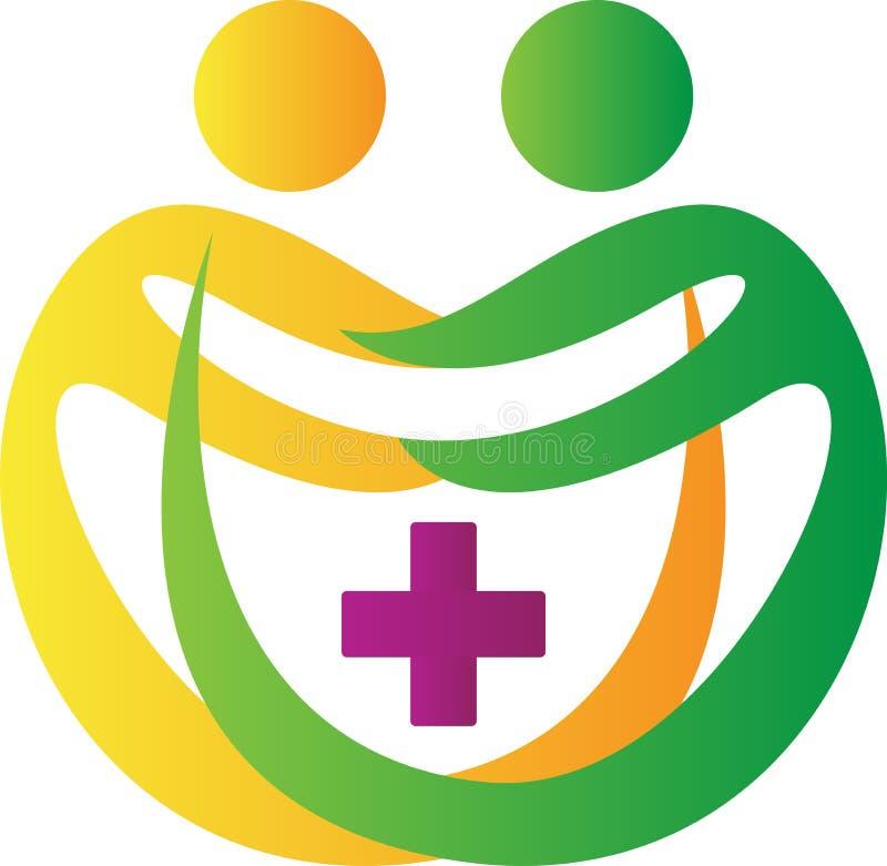Logotipo da clínica ilustração royalty free