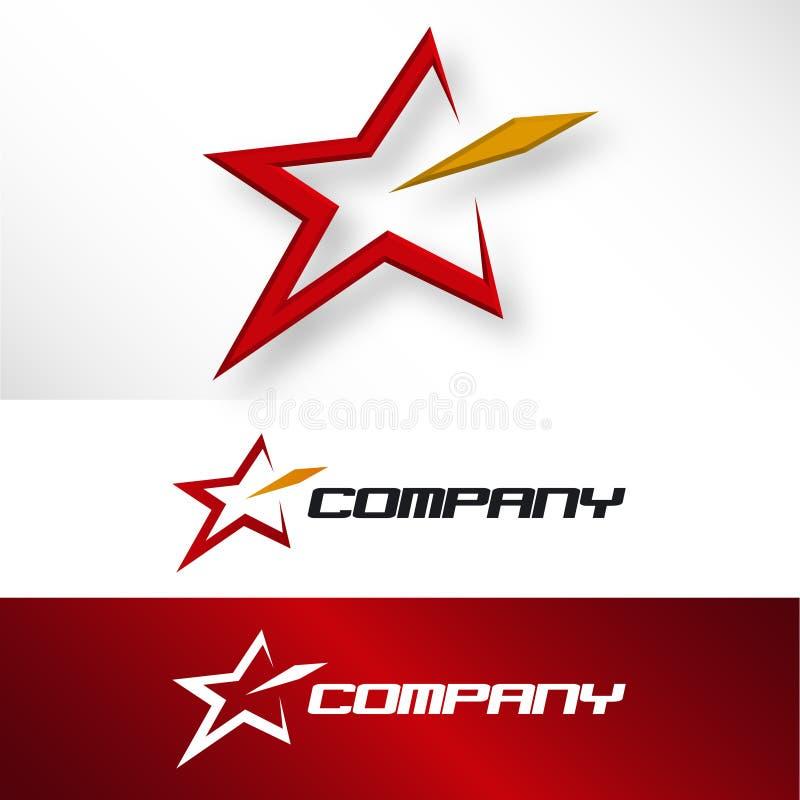Logotipo da companhia da estrela ilustração royalty free